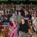 Anne Azam-Pradeilles et quelques uns( unes) des pionniers de l'Association ( Josianne Bastit, Monique et Pierre Faure, Claire Bryars, Jacques Kuhnle) ont été vivement applaudis par les 200 Congressistes présents dans l'Amphi Eiffel du Département Informatique de l'IUT de Toulouse